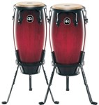 Meinl Headliner HC512 11+12in Wood Congas w/Baskets, Wine Red