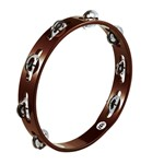 Meinl African Brown Tambourine Steel Jingle, Single Row - TA1AB
