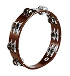 Meinl African Brown Tambourine Steel Jingle, Double Row - TA2AB