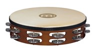 Meinl Headed African Brown Tambourine (Double Row) - TAH2A-AB