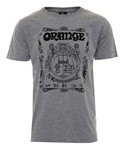 Orange Crest T-Shirt, Grey, M