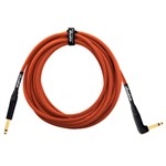 Orange Instrument Cable, Angled, 10ft/3m