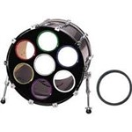 Os Bass Drum Os 2in (Red, Pair)
