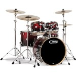 Pacific PDP CM5 Concept Maple 5 Piece Shell Pack, Red to Black Sparkle Fade