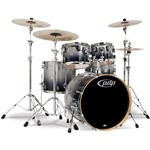 Pacific PDP CM5 Concept Maple 5 Piece Shell Pack, Silver to Black Sparkle Fade