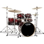 Pacific PDP CM6 Concept Maple 6 Piece Shell Pack (Red to Black Sparkle Fade)