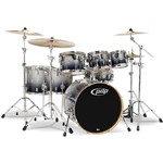 Pacific PDP CM7 Concept Maple 7 Piece Shell Pack, Silver to Black Sparkle Fade