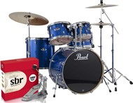Pearl Export Rock Kit, Electric Blue Sparkle