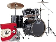 Pearl Export Rock Kit, Jet Black