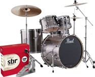 Pearl Export Rock Kit, Smokey Chrome