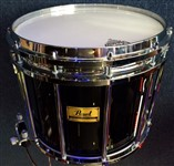 Pearl Marching Birch Snare Drum, Black, 14x12in, Ex Display