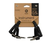 D'Addario Planet Waves PW-CGTP-305 Classic Patch Cable, Right Angle, 6in, 3 Pack