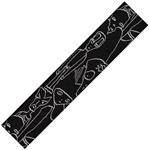 D'Addario Planet Waves 50JS05 Joe Satriani Woven Strap, Silver Sketches