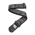 D'Addario Planet Waves 50JS04 Joe Satriani Woven Strap, Snakes Mosaic