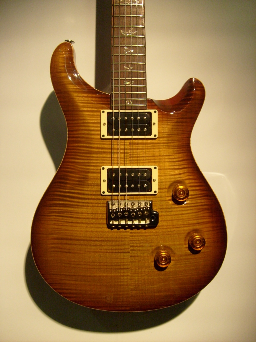 PRS Custom 24 Smoke Amber 10 top New Birds Wide Thin