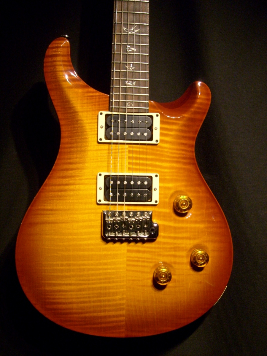 PRS Custom 24 Violin Amber Sunburst, Rosewood Neck