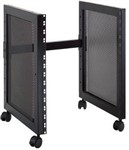 Quik Lok RS513 Straight 14U Rack Base Unit with Castors