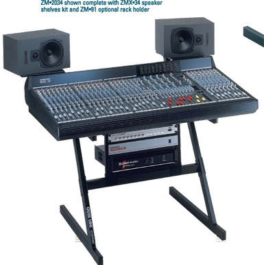 quik lok zm 2034 mixing console stand for mixers 35 to 46