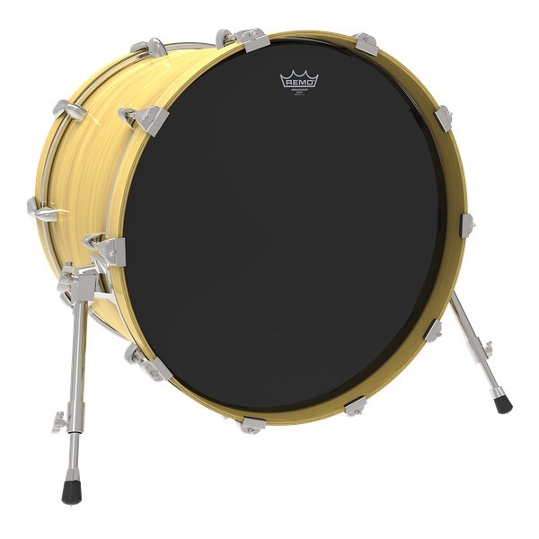Remo Ebony Ambassador Bass Drum Head (18in)