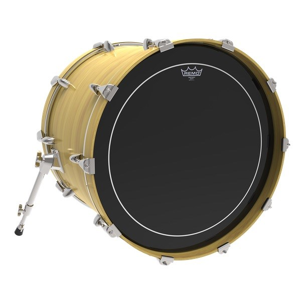 Remo Ebony Pinstripe Bass Drum Head (18in) Front