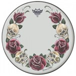 Remo Tattoo Skyn Suede Snare Batter Head (14in, Rock & Rose)
