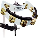 Rhythm Tech Drum Set Tambourine with Brass Jingles (Black) - BDST2B