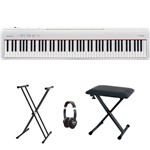 Roland FP-30 Digital Piano (White) bundle