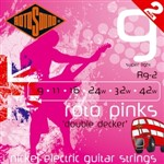 Rotosound R9-2 Roto Pinks Electric, Super Light, 9-42, 2 Pack