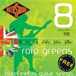 Rotosound R8 Roto Greens Electric, Extra Light, 8-38