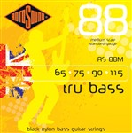 Rotosound RS88M Tru Bass Black Nylon Medium Scale (65-115)