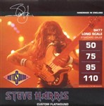 Rotosound SH77 Steve Harris Bass, Monel Flatwound, Long Scale, Custom, 50-110