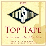 Rotosound RS200 Top Tape Jazz, Monel Flatwound, 12-52