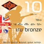 Rotosound TB10 Tru Bronze Acoustic, Extra Light, 10-50