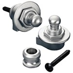 Schaller Strap Locks (Satin Chrome)