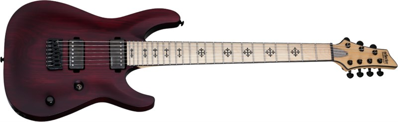 Schecter JL-7 Jeff Loomis Vampire Red Satin Main