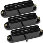 Seymour Duncan 6 String Hot Rails Set For Strat (Black)