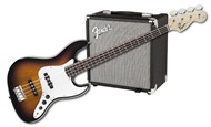 Squier Stop Dreaming Start Playing Set Affinity Series Jazz Bass with Fender Rumble 15 V3 Amp Brown Sunburst