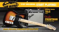 Squier Stop Dreaming, Start Playing Set: Affinity Series Telecaster Pack with Fender Frontman 15G Amp (Brown Sunburst)