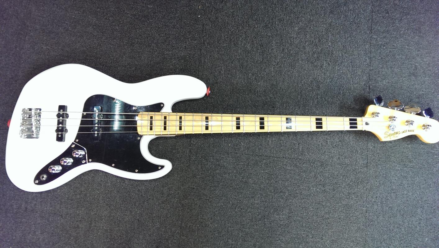 squier vintage modified jazz bass 39 70s olympic white pre owned. Black Bedroom Furniture Sets. Home Design Ideas