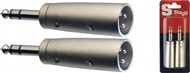 Stagg AC Stereo Jack to Male XLR Adapter (2 Pack) - AC-XMPMSH