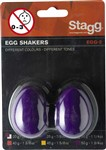 Stagg Egg Shakers (Purple, Pair)