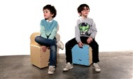 Stagg Kids Cajon, Blue, Main