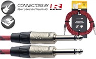 Stagg NGC Instrument Cable (6m/20ft, Red, Neutrik/Rean) - NGC6VTR RD