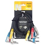 Stagg NPC 060LR-6 Right Angled Jack - Jack Cables 6 Pack (0.6m)