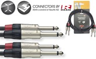 Stagg NTC Dual Mono Jack Cable (6m/20ft, Black) - NTC6PR