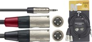 Stagg NYC Stereo Mini Jack to Dual Male XLR Cable (3m/10ft) - NYC3/MPS2XMR