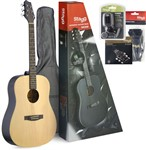 Stagg SA30D-N Pack Dreadnought Acoustic Guitar Package (Natural)