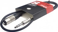 Stagg SAC1PSXM Stereo Jack to Male XLR Cable, 1m/3ft