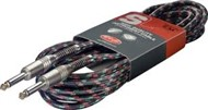 Stagg SGC Vintage Tweed Guitar Cable (6m/20ft, Black) - SGC6VT BK