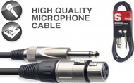 Stagg SMC Female XLR to Mono Jack Cable (10m/33ft, Black) - SMC10XP